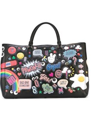 Anya Hindmarch 'Ebury All Over Stickers' Tote Black