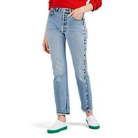 Lisa Perry Fleurty Embroidered Jeans Blue