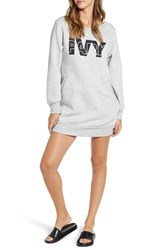 Ivy Park Layered Logo Sweatshirt Dress Light Grey Marl