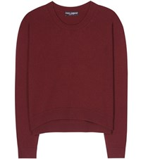 Dolce And Gabbana Cashmere Sweater Red