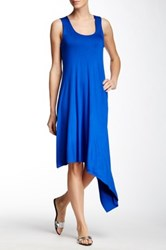 Sweet Pea Sleeveless Asymmetric Dress Blue