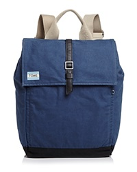 Toms Backpack Trekker Excursion Waxed Canvas Navy Waxed Canvas