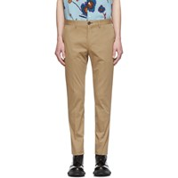 Paul Smith Ps By Tan Slim Chino Trousers