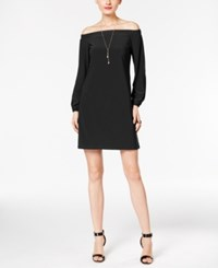 Inc International Concepts Petite Off The Shoulder Dress Only At Macy's Deep Black