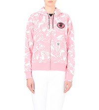 Aape By A Bathing Ape Abstract Print Jersey Hoody Pink