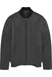 Vince Wool Blend Bomber Jacket Gray