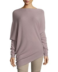 Ralph Lauren Asymmetric Hem Cashmere Sweater Dark Mauve Women's