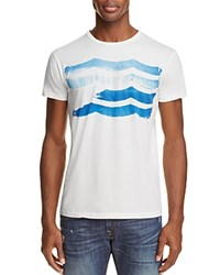 Sol Angeles Wave Stripe Distressed Graphic Tee White
