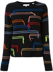 Chinti And Parker Horizontals Tassled Jumper 60