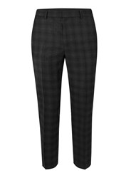 Topman Black Check Skinny Fit Wool Suit Pants