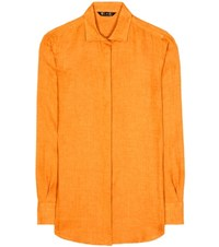 Loro Piana Kara Linen Shirt Orange