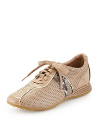 Cole Haan Bria Snake Print Leather Sneaker Maple Sugar