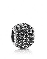 Pandora Design Pandora Charm Sterling Silver And Black Crystal Pave Lights Moments Collection Silver Black