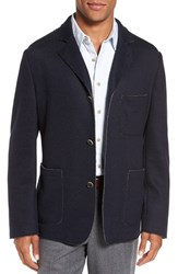 Flynt Men's Big And Tall New Fit Laser Cut Knit Sport Coat Blue