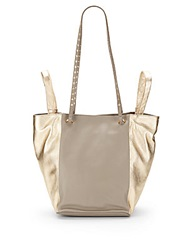 Kelsi Dagger Jaquetta Leather Convertible Shopper Bag Champagne