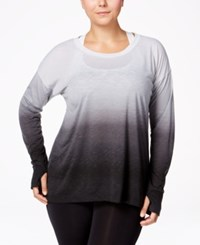 Ideology Plus Size Dip Dyed Top Only At Macy's Noir Dip