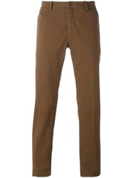 Jacob Cohen Straight Leg Chinos Brown