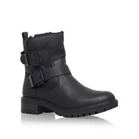 Miss Kg Snug Low Heel Ankle Boots Black