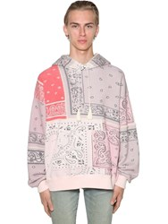 Amiri Over Bandana Reconstructed Jersey Hoodie Coral