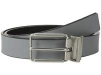 Calvin Klein 32Mm Reversible Flat Strap Saffiano Leather To Smooth Grey Black Men's Belts Gray