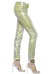 Just Cavalli Waxed Metallic Denim Jeans