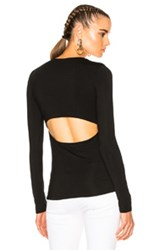 Alexander Wang T By Modal Spandex Long Sleeve Tee In Black