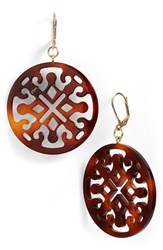 Women's L. Erickson Medallion Filigree Drop Earrings Tortoise