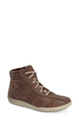Josef Seibel 'Dany 41' Waterproof High Top Sneaker Women Moro Leather