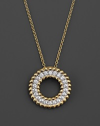 Bloomingdale's Diamond Circle Pendant Necklace In 14K Yellow Gold .40 Ct. T.W.