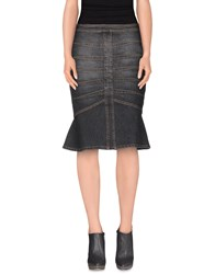 Angelo Marani Denim Denim Skirts Women Black