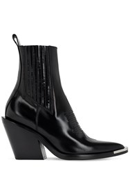 Paco Rabanne 80Mm Chelsea Leather Boots Black