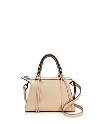 Elena Ghisellini Gabria Mini Leather Satchel Nude Gunmetal