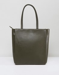 Jaeger Icon Leather Bag Green