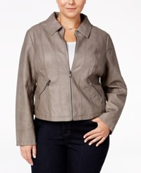 American Rag Trendy Plus Size Faux Leather Jacket Only At Macy's Vintage Gravel
