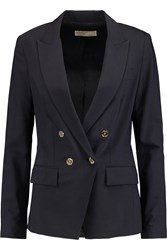 Michael Michael Kors Stretch Wool Crepe Blazer Blue