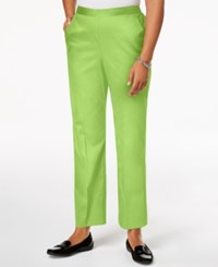 Alfred Dunner In The Limelight Pull On Straight Leg Pants Key Lime