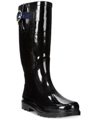 Nautica Saybrook Rain Boots Women's Shoes Black Navy