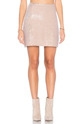 Michael Stars Sequin Mini Skirt Beige