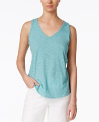Maison Jules V Neck Tank Top Only At Macy's Dusty Turquoise