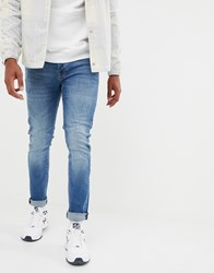 Voi Jeans Skinny In Mid Blue