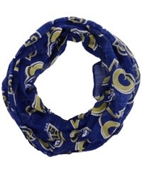 Forever Collectibles Los Angeles Rams All Over Logo Infinity Wrap Scarf Navy Gold