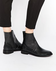 Asos Aloud Leather Chelsea Boots Black