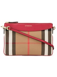Burberry House Check Crossbody Bag Red