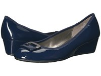 Bandolino Tad Navy Super Soft Patent Pu Women's Sandals Blue
