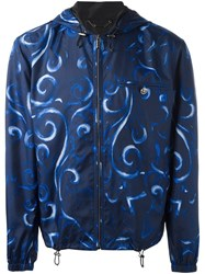 Versace Baroque Hooded Jacket Blue