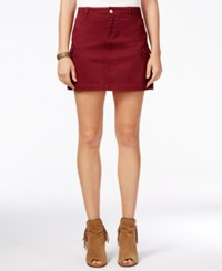 Celebrity Pink Juniors' Cargo Mini Skirt Bright Red