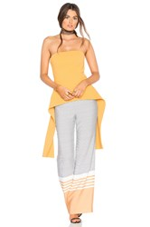 C Meo Collective Element Bustier Top Mustard