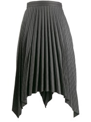 Acne Studios Asymmetrical Handkerchief Skirt Black