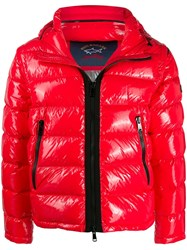 Paul And Shark Glossy Shell Puffer Jacket Red