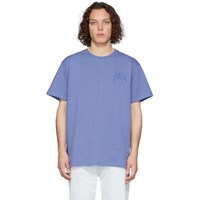 J.W.Anderson Jw Anderson Blue Logo Embroidery T Shirt